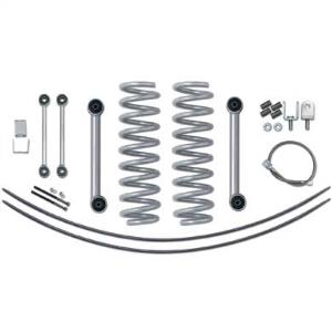 Rubicon Express Part RE6020 - Rubicon Express 3.5 Inch Super-Ride Short Arm Lift Kit with Rear Add-A-Leafs - No Shocks - RE6020-WS4