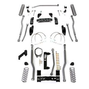Rubicon Express Part JK4343 - Rubicon Express 3.5 Inch Extreme Duty 4-Link Front/Rear 3-Link Long Arm Lift Kit - No Shocks - JK4343-WS3