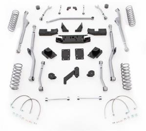 Rubicon Express Part JKRR43 - Rubicon Express 3.5 Inch Extreme Duty Radius Long Arm Lift Kit - JKRR43-WS3