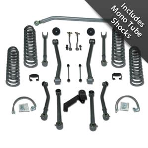 Rubicon Express Part RE7123M - 3.5 Inch Super-Flex Short Arm Lift Kit with Mono Tube Shocks-WS4
