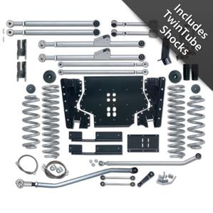Rubicon Express Part RE7203T - Rubicon Express 3.5 Inch Extreme-Duty Long Arm Lift Kit with Rear Track Bar with Twin Tube Shocks - RE7203T-WS3