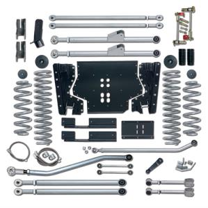 Rubicon Express Part RE7224 - Rubicon Express 4.5 Inch Extreme-Duty Long Arm Lift Kit with Rear Track Bar - No Shocks - RE7224-WS4
