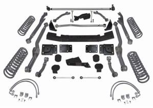 Rubicon Express Part RE7354 - Rubicon Express 4.5 Inch Extreme-Duty Long Arm Lift Kit - No Shocks - RE7354-WS4