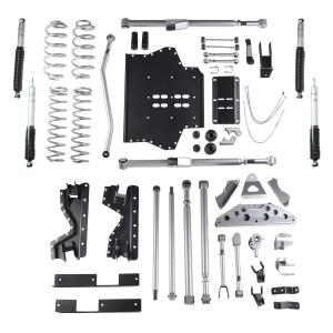 Rubicon Express Part RE7504M - Rubicon Express 4.5 Inch Extreme-Duty Long Arm Lift Kit with Rear Tri-Link and Mono Tube Shocks - RE7504M-SLVMSWS-P02