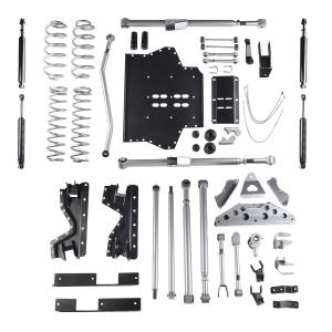 Rubicon Express Part RE7504T - Rubicon Express 4.5 Inch Extreme-Duty Long Arm Lift Kit with Rear Tri-Link and Twin Tube Shocks - RE7504T-WS4