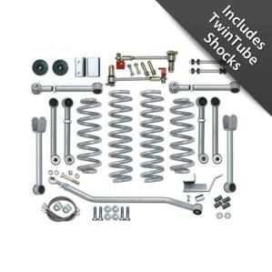 Rubicon Express Part RE8000T - Rubicon Express 4.5 Inch Super-Flex Short Arm Lift Kit with Twin Tube Shocks - RE8000T-WS3